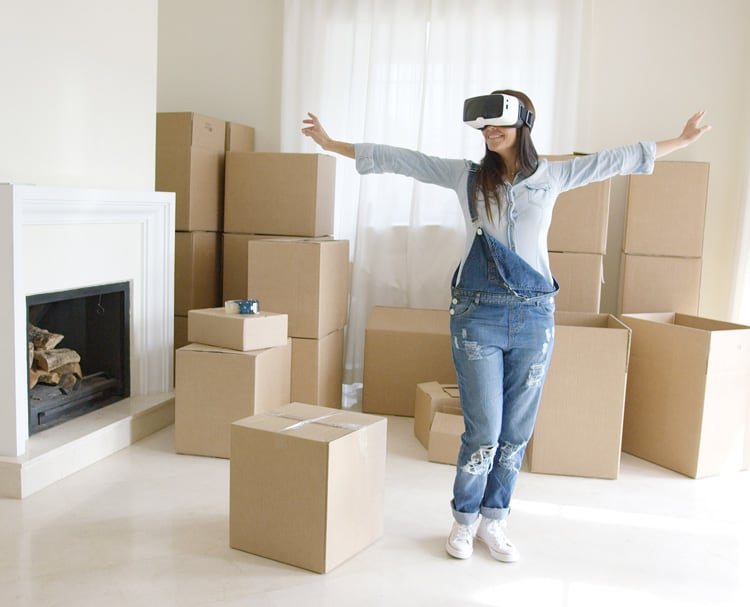 VR tours help users to imagine real estate properties