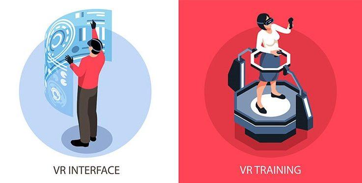 VR interface VR training